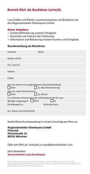 RVO Jobbörse Busfahrer / Deutsche Bahn