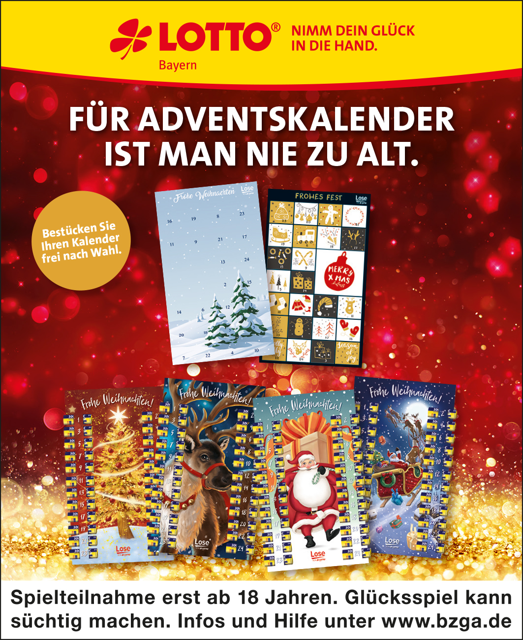 Lotto Adventskalender 2021 Bayern