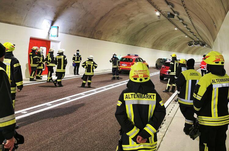 Aubergtunnel Feuerwehr