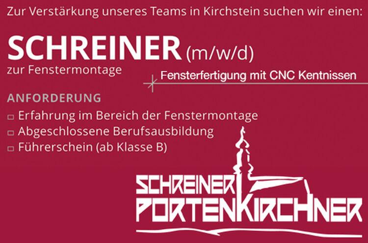 Banner Portenkirchner Schreiner 1