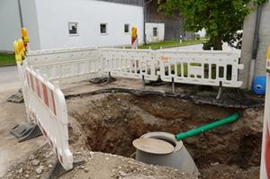 Baustelle Entwässerungsanlage Zweckham
