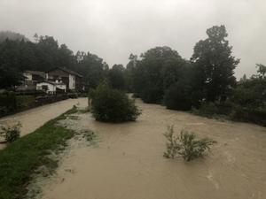 Überflutung Siegsdorf
