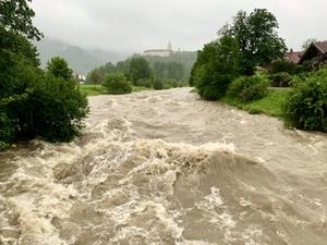 Überflutung Aschau