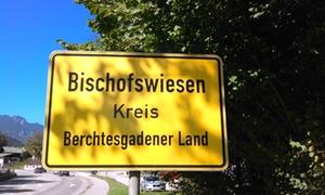 Bischofswiesen Ortsschild