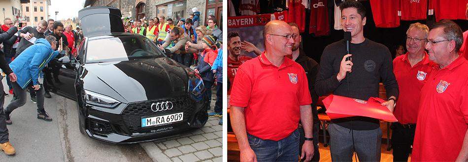 Robert Lewandowski besucht den FC Bayern Fanclub Obing`84