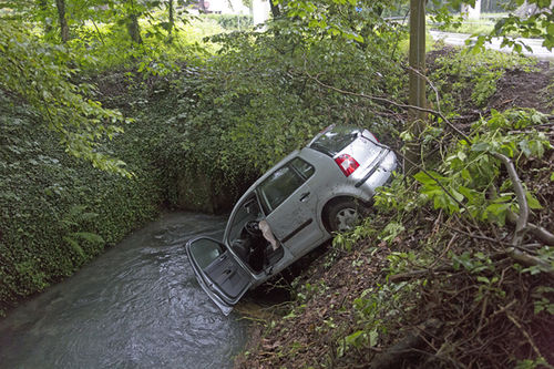 Grabenbach Unfall 1