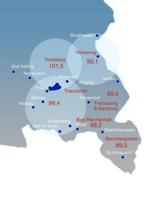 Frequenzen Chiemgau