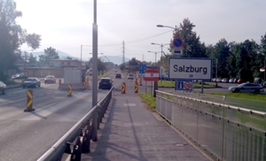 Grenzkontrolle Salzburg 17 September 2018