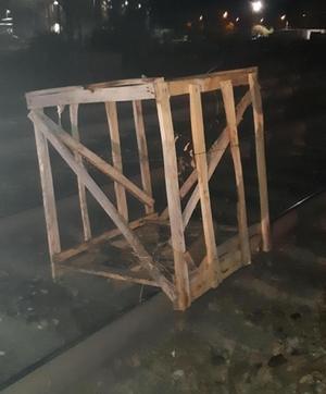 Holzgestell Gleise