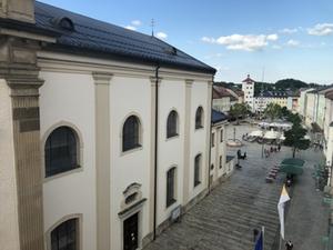 Stadtplatz Traunstein von oben