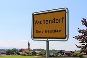 Ortsschild Vachendorf