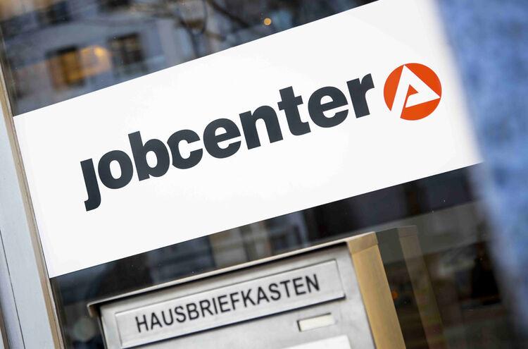 Jobcenter Schild