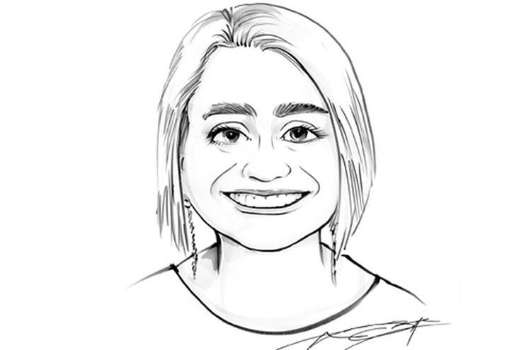 Johanna Thron Karikatur