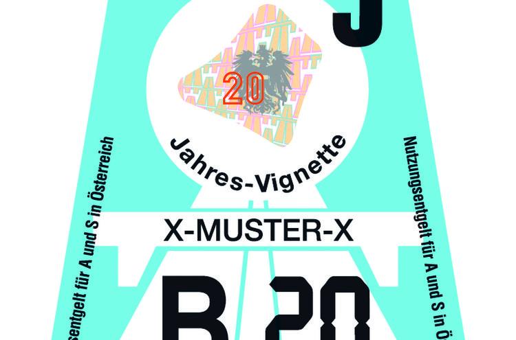 Klebevignette 2020 Himmelblau