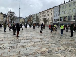 Lauter Protest Traunstein