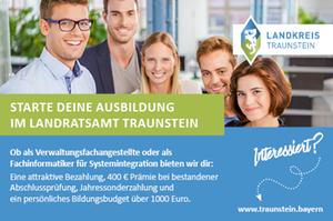 Banner Landratsamt Traunstein Auszubildende (m/w/d) Verwaltungsfachangestellte/-r Kommunalverwaltung