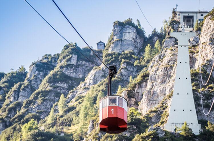 Menueknotenpunkt Gipfelglueck Predigtstuhlbahn