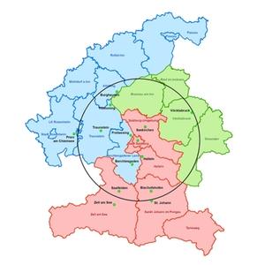 EUREGIO Fahrplan Gebiet
