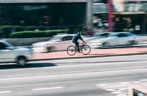 Radfahrer Innenstadt