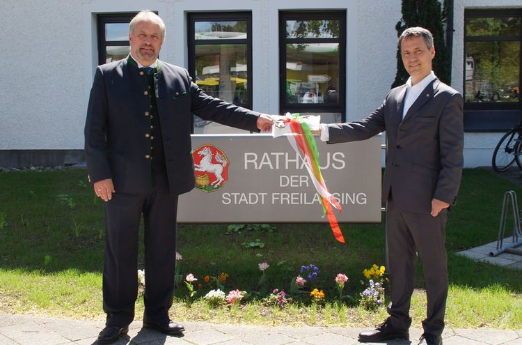 Rathaus Schluesseluebergabe