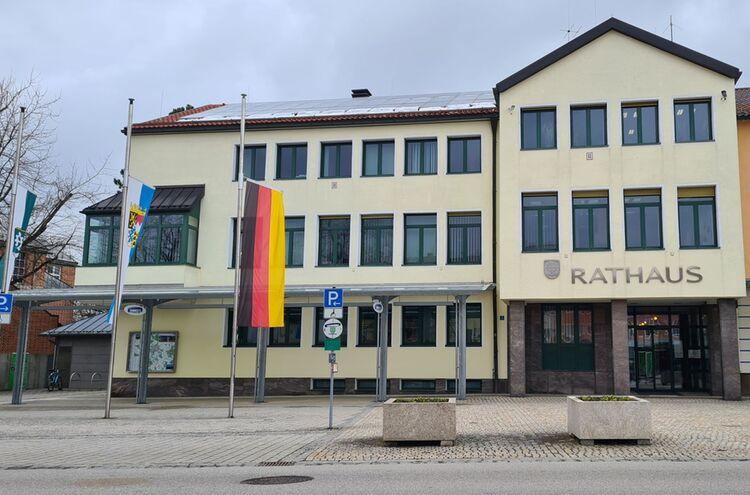Rathaus Trauerbeflaggung