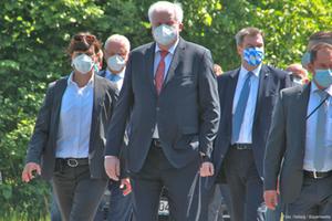 Horst Seehofer, Markus Söder und Joachim Herrmann besuchen Grenze in Freilassing 18 Mai 2020