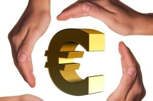 Hände Euro Spende