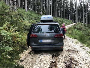 Auto Weg Steiner Alm