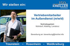 Banner Kreiller Traunstein - Vertriebsmitarbeiter