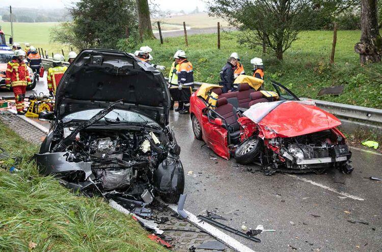 Verkehrsunfall Palling Wiesmuehl Lamminger