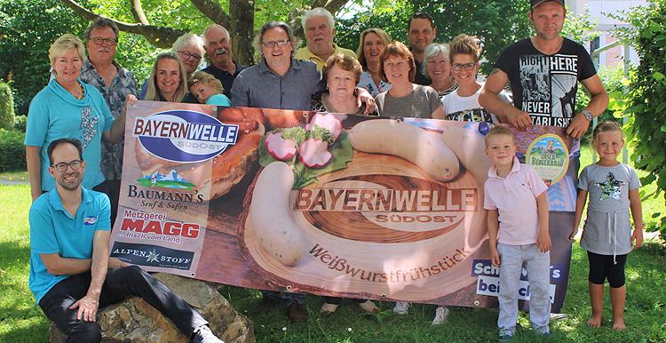 Bayernwelle Weißwurstfrühstück 08 Juni 2018 in Bad Reichenhall