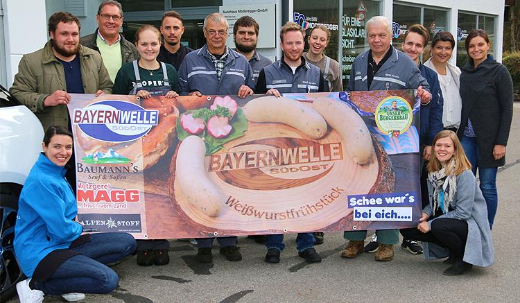 Bayernwelle Weißwurstfrühstück 09 November 2018 bei BMW Moderegger