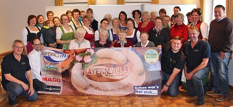 Bayernwelle Weißwurstfrühstück 14 Dezember 2018 in Rottau